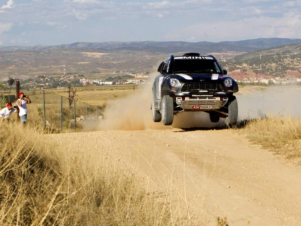 El piloto español de equipo Mini X-Raid, 'Nani' Roma durante el prólogo.