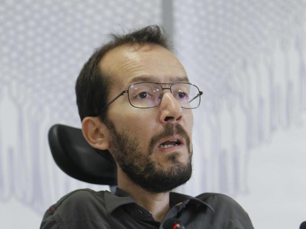 El secretario general en Aragón de Podemos, Pablo Echenique.