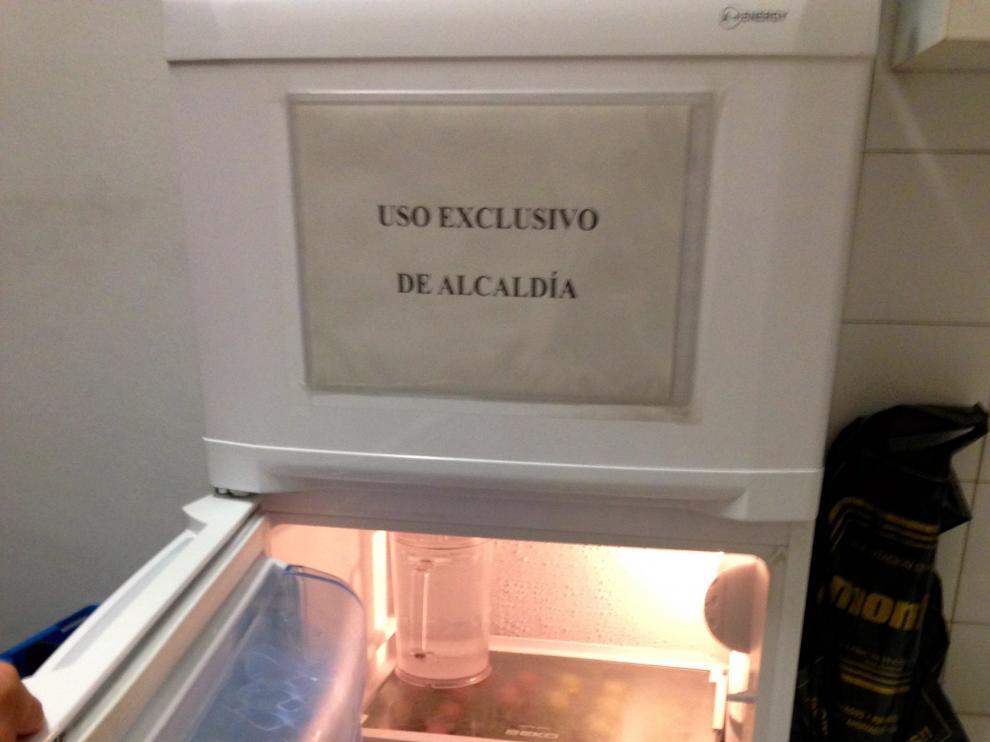 Foto de la nevera de Alcaldía.