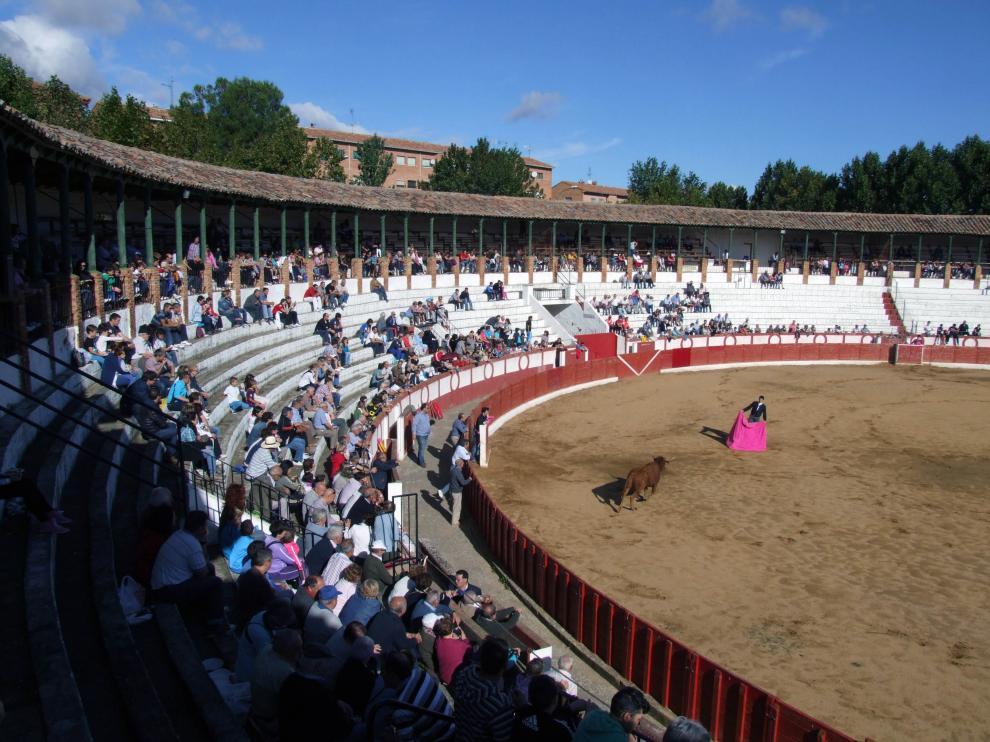 Festejo en la plaza de toros de Tarazona.