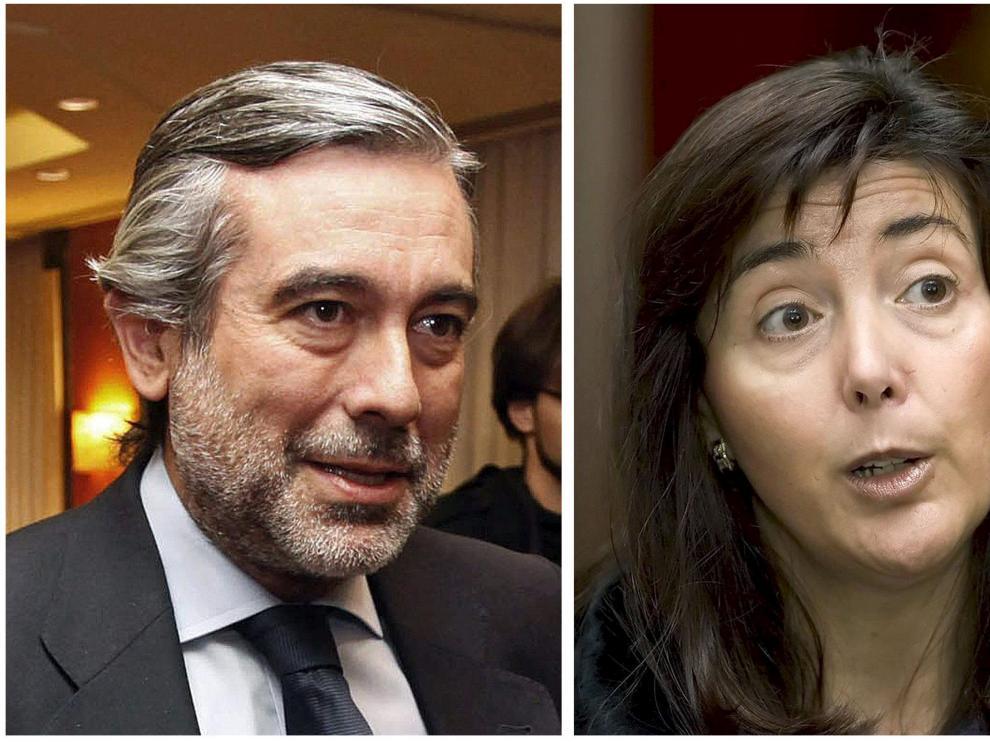 Los magistrados Enrique López y Concepción Espejel.
