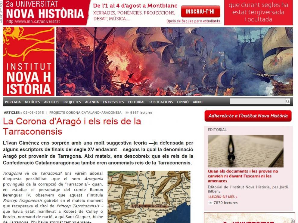 Web del Instituto Nueva Historia