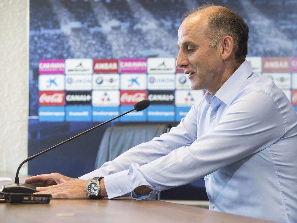 Martín González, durante una rueda de prensa