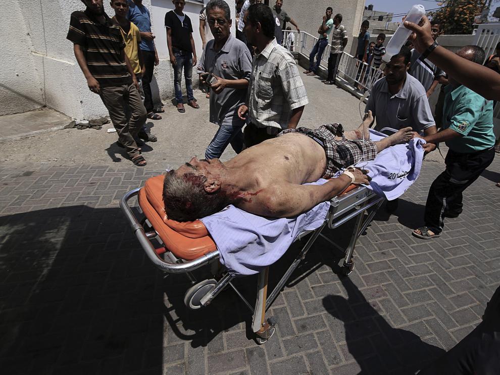 Explosión de una vivienda en Gaza.