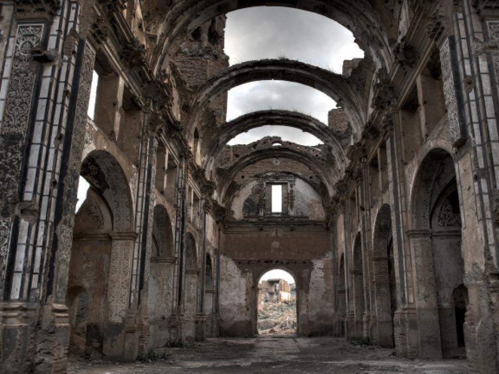 Las ruinas del pueblo viejo de Belchite.