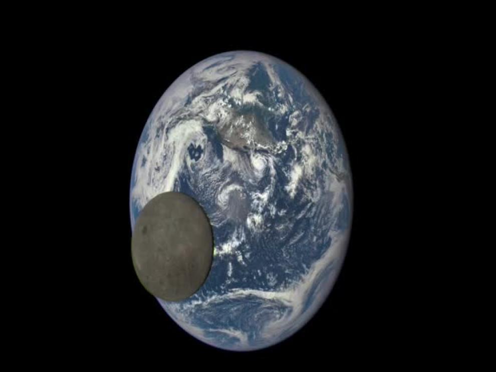 La NASA capta el lado oscuro de la Luna iluminado por el Sol