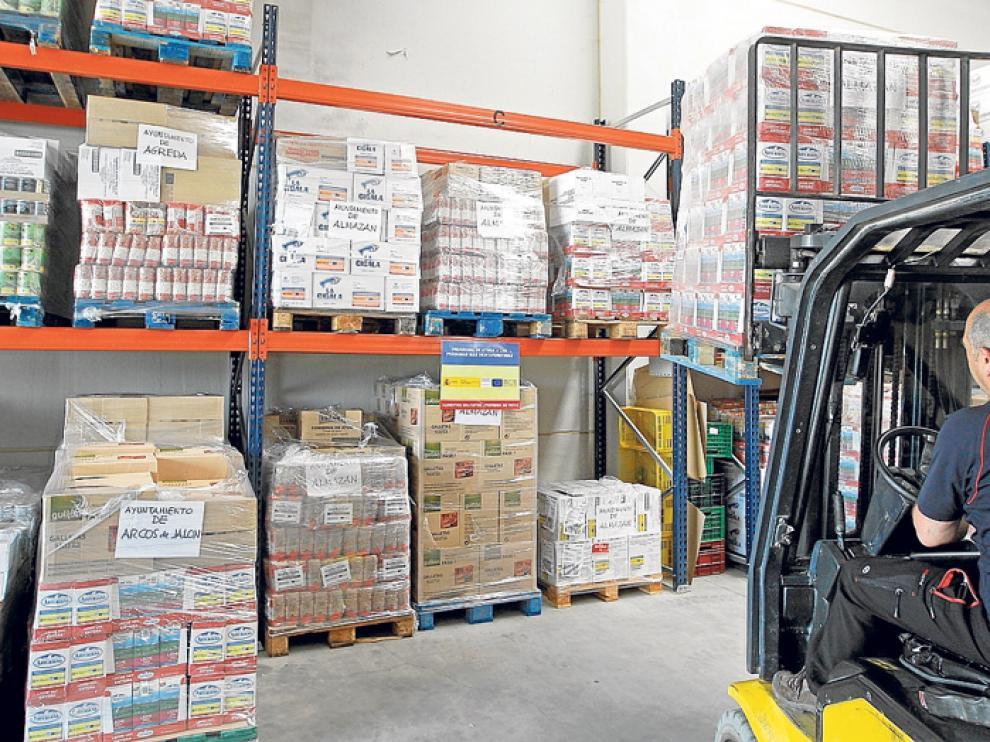 El Banco de Alimentos de Soria recibió 24 toneladas del FEAD a principios de julio