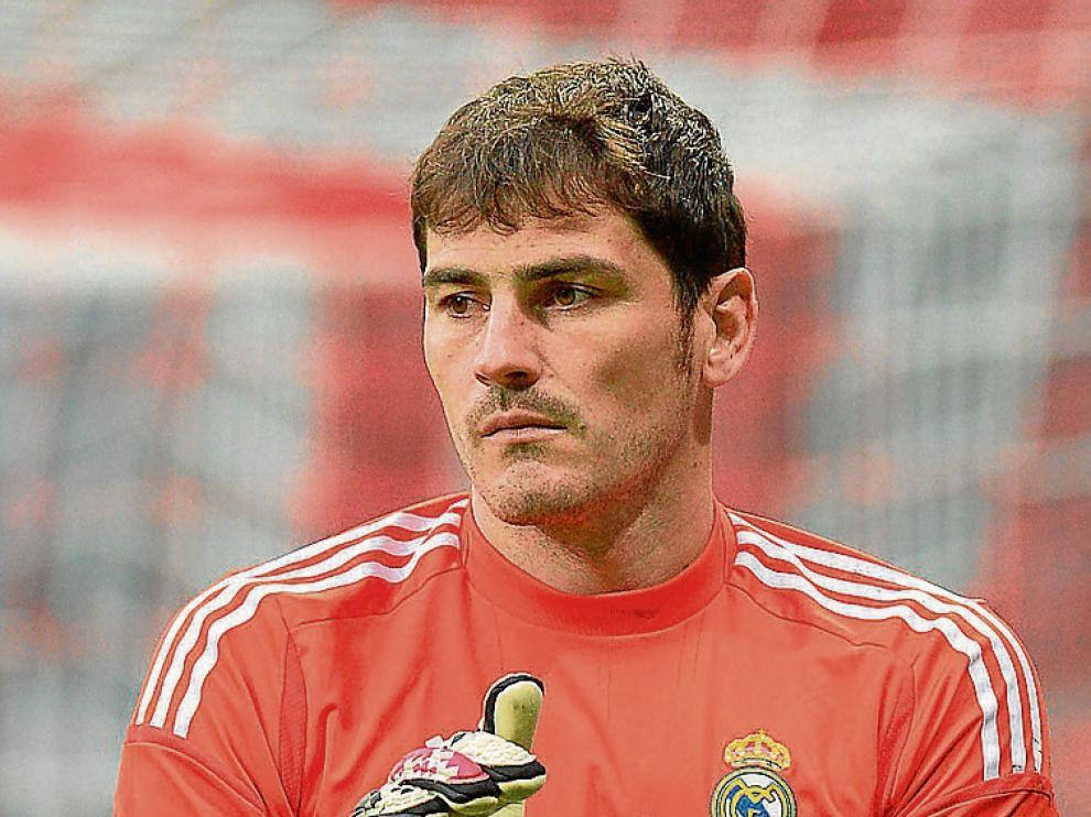 Casillas, en un entrenamiento del Real Madrid.
