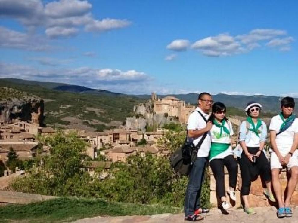 El grupo de periodistas chinos que ha visitado Aragón estos días