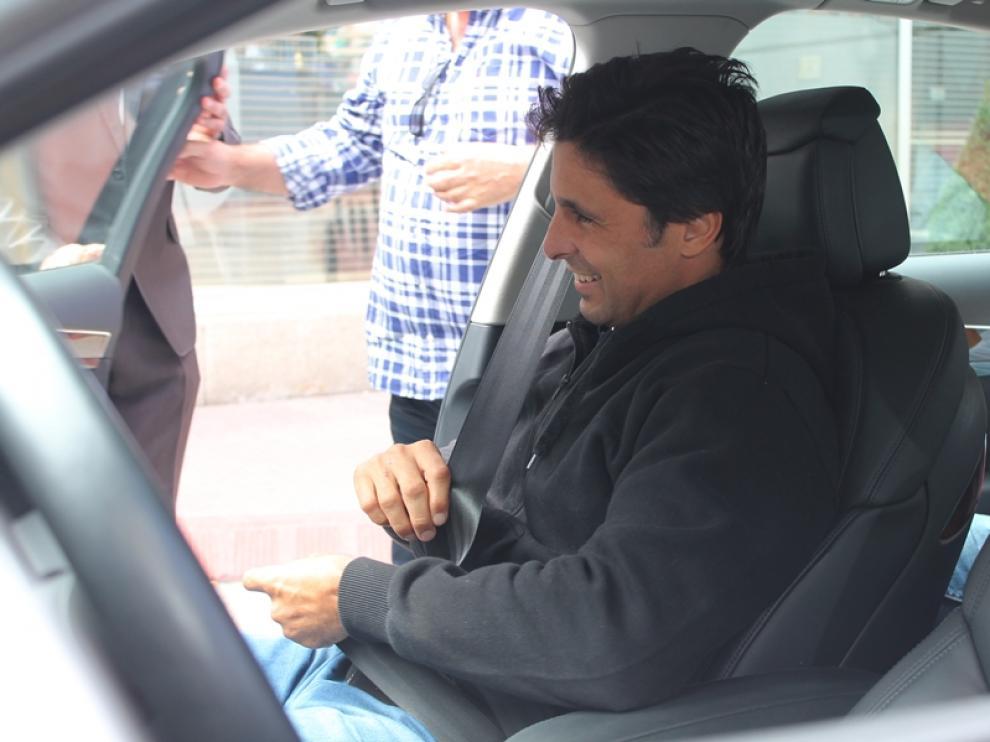 Francisco Rivera a la salida del hospital.