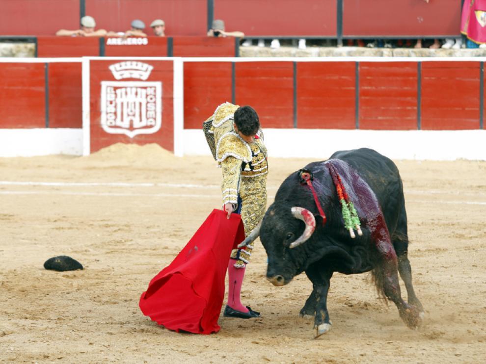 Imagen de archivo de una corrida en El Burgo
