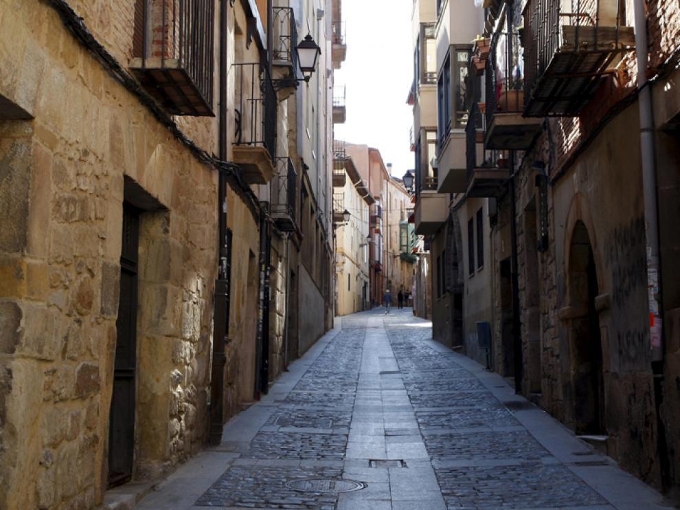Fotografía de la calle Zapatería, en pleno Casco Viejo de Soria