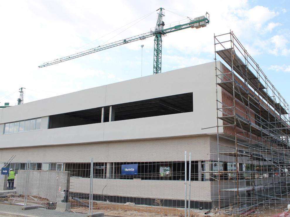 El colegio Ánfora este martes. La segunda fase sigue construyéndose.