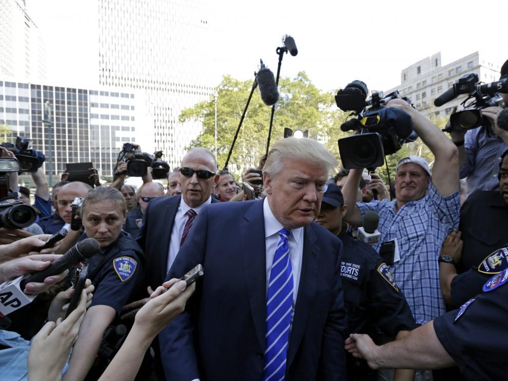 Donald Trump en una foto de archivo.