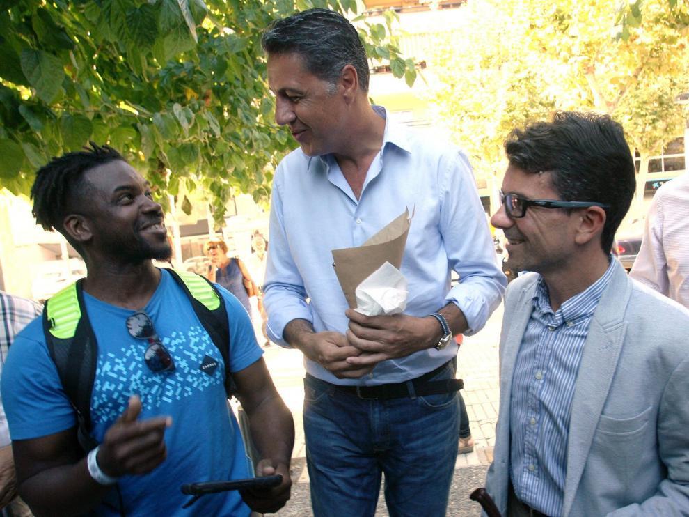 Xavier Garcia Albiol visitó Salou este miércoles.