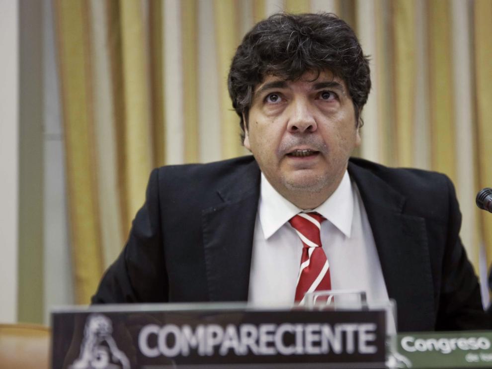 El subsecretario de Estado del Ministerio de Fomento, Mario Garcés, durante su comparencia en la Comisión de Presupuestos