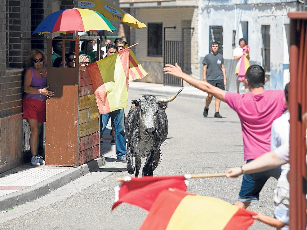 Los vecinos de El Burgo de Ebro disfrutaron ayer por la mañana de un encierro tranquilo.
