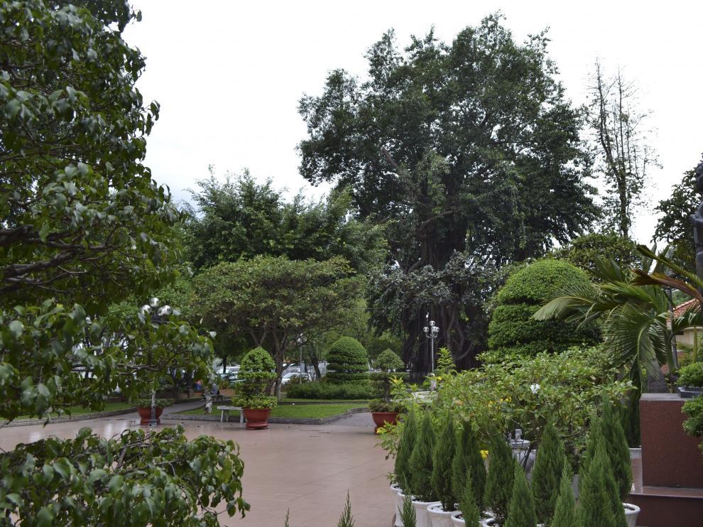 Vista del parque Bach Tung Diep situado en Ho Chi Minh y fue territorio español.