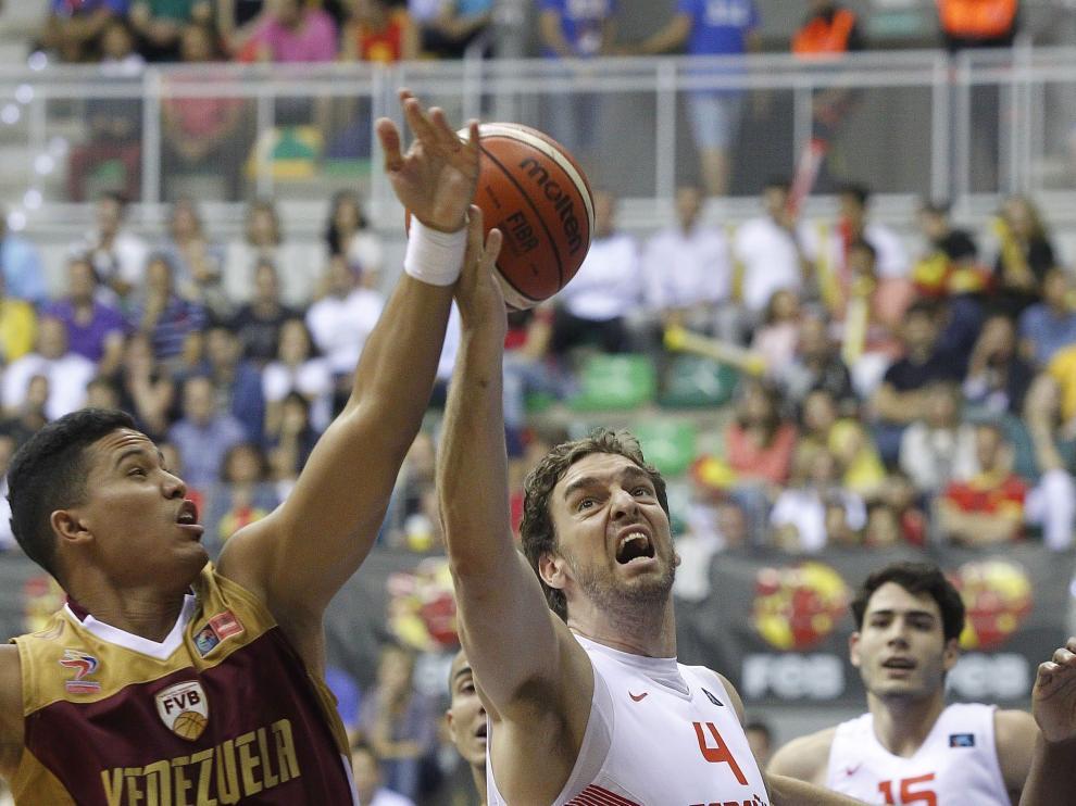 El pívot de la selección española de baloncesto Pau Gasol.