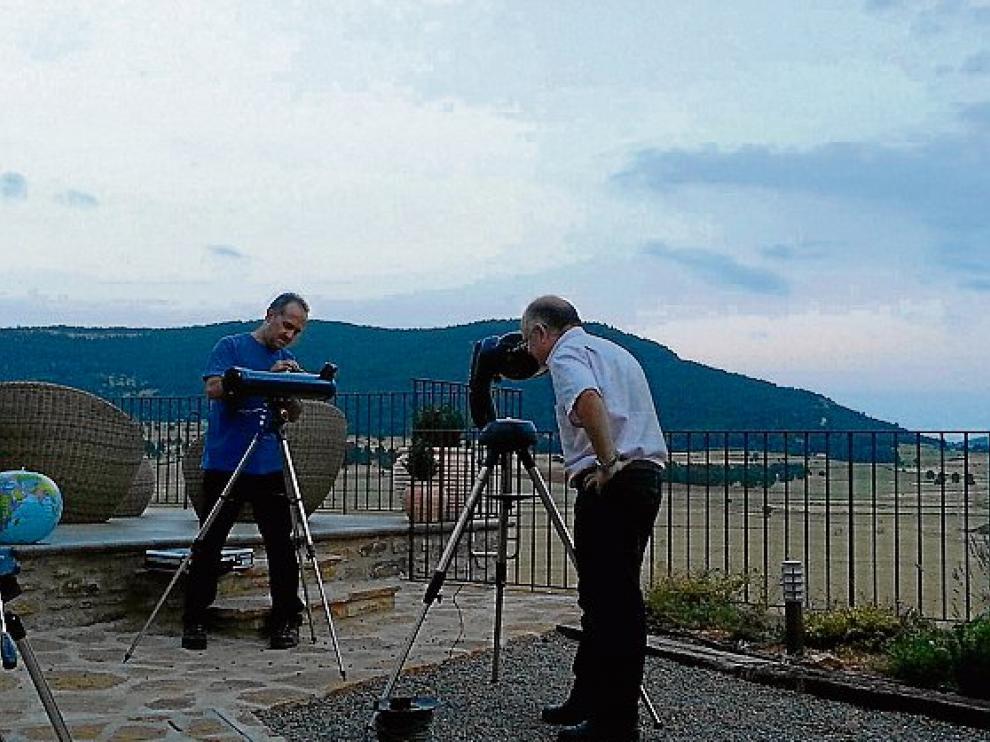 Observación de estrellas en Mas de Cebrián.