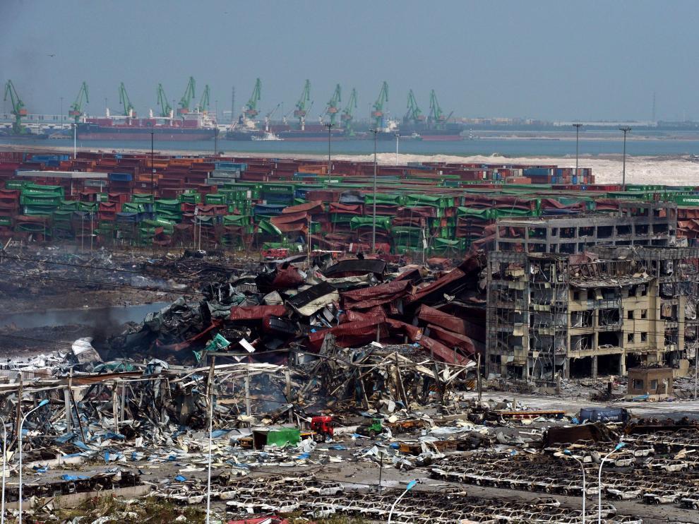 Las explosiones en la terminal de contenedores del puerto chino de Tianjin han causado, al menos, 114 muertos.
