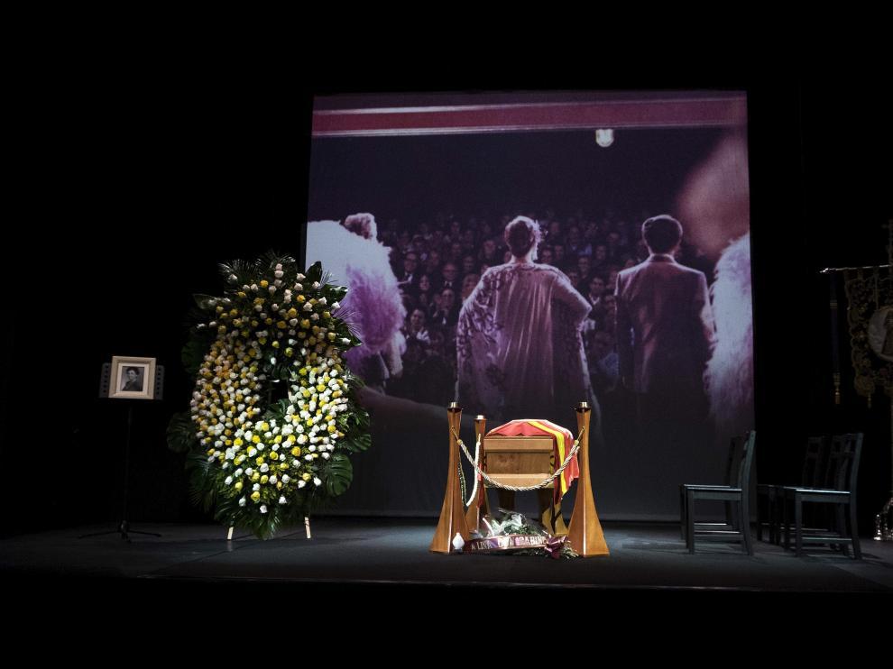 Capilla ardiente de Lina Morgan en el Teatro de La Latina