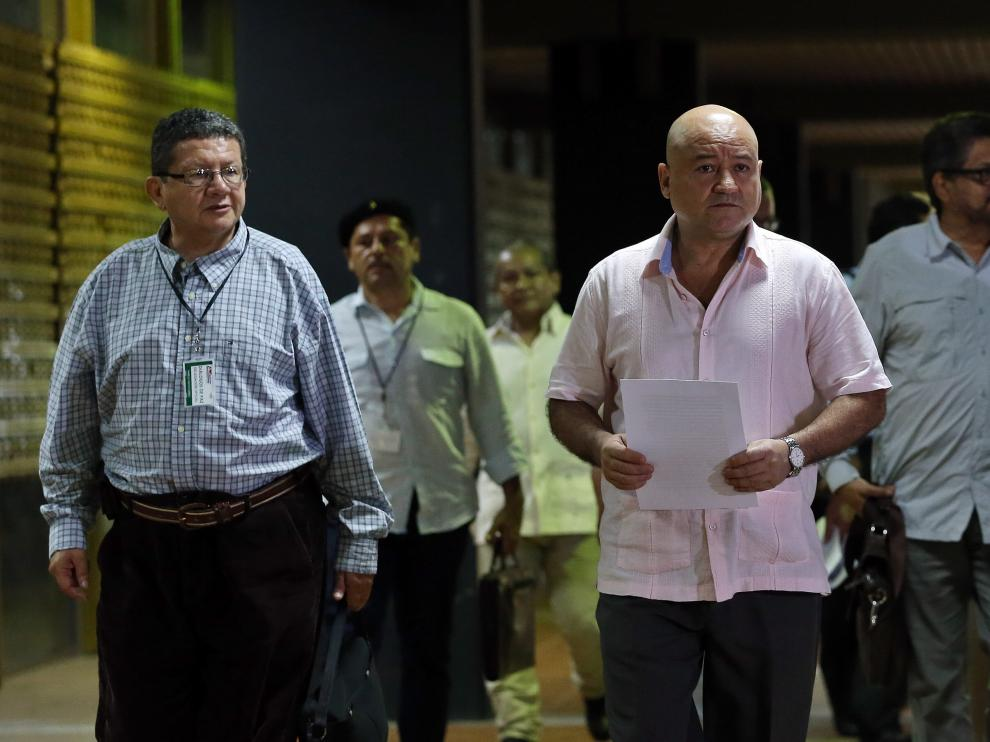 Los comandantes de las FARC durante las negociaciones en La Habana