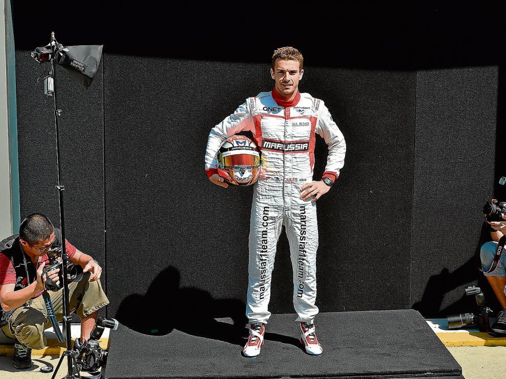 El francés Jules Bianchi, durante su presentación como piloto de Marussia en marzo de 2014.