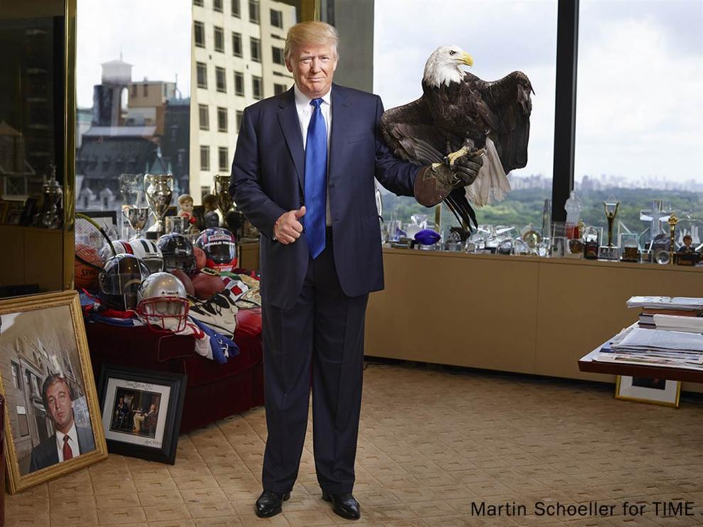 Trump en su imagen para la revista 'Time'.