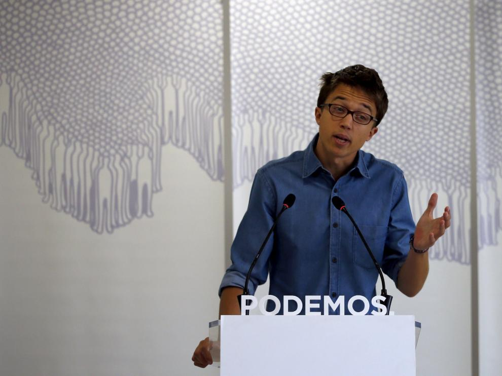 El secretario Político de Podemos, Iñigo Errejón.