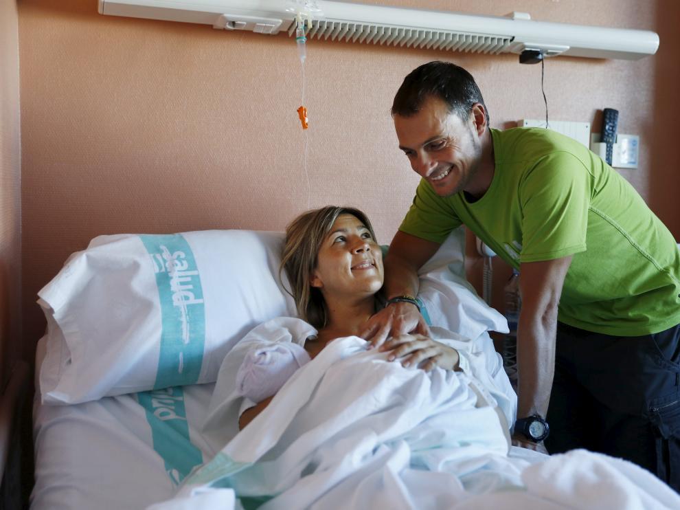 Maria Rebollo y Ramón Fernandez dieron a luz en la nacional 330 a la altura de Lanave