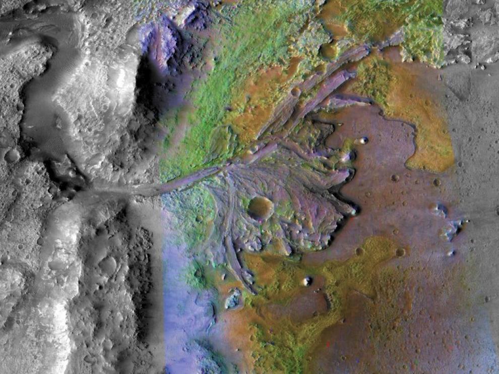El cráter marciano donde aterrizar