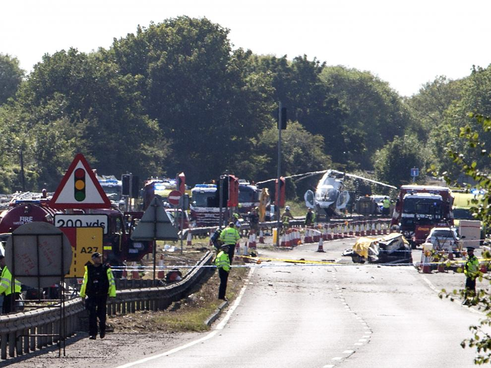 Accidente aéreo en Inglaterra