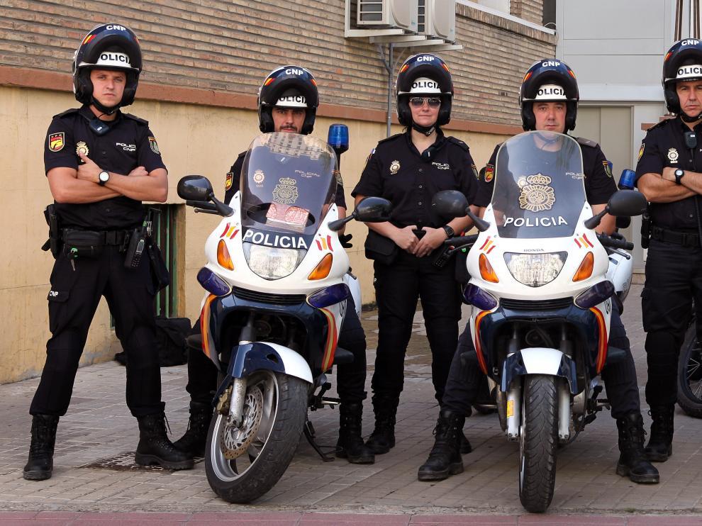 La nueva unidad motorizada Centellas de la Policía en Aragón.
