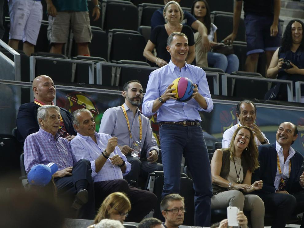 Felipe VI ha mostrado su apoyo al equipo nacional de cara al Eurobasket.