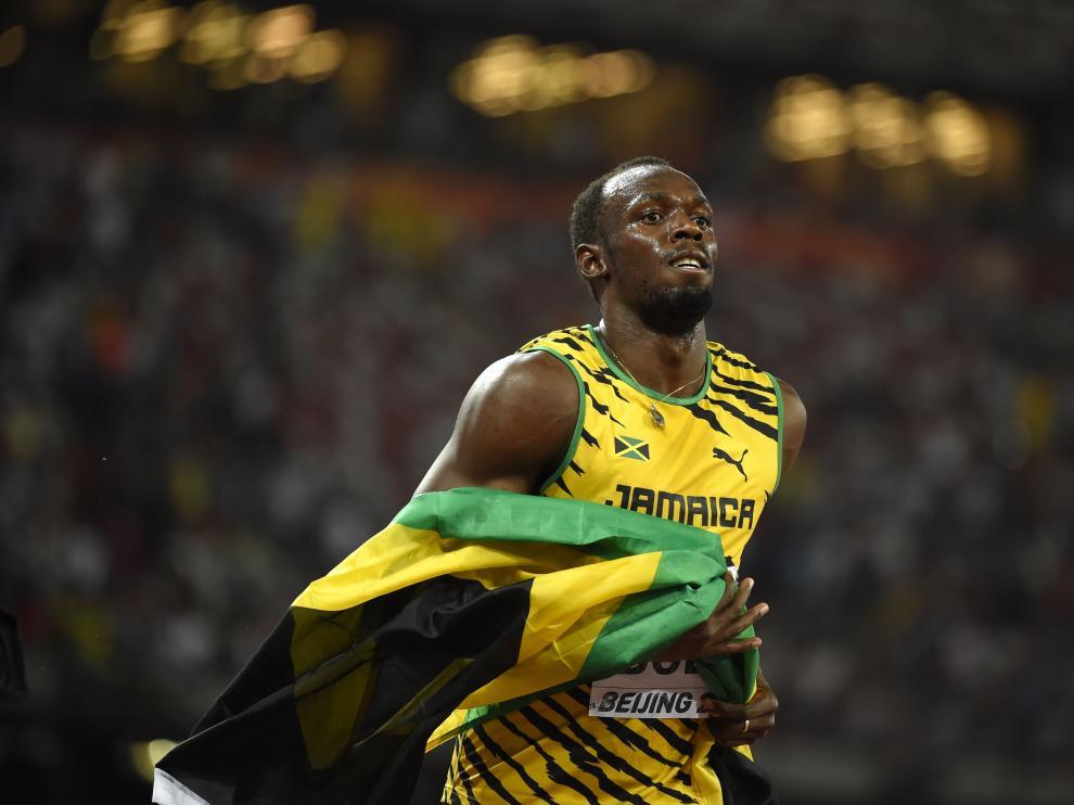 ?Bolt celebra su victoria