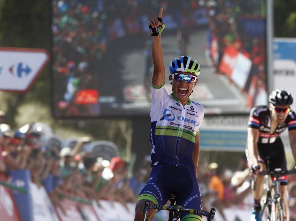 ?El colombiano Esteban Chaves, líder tras ganar en Caminito del Rey