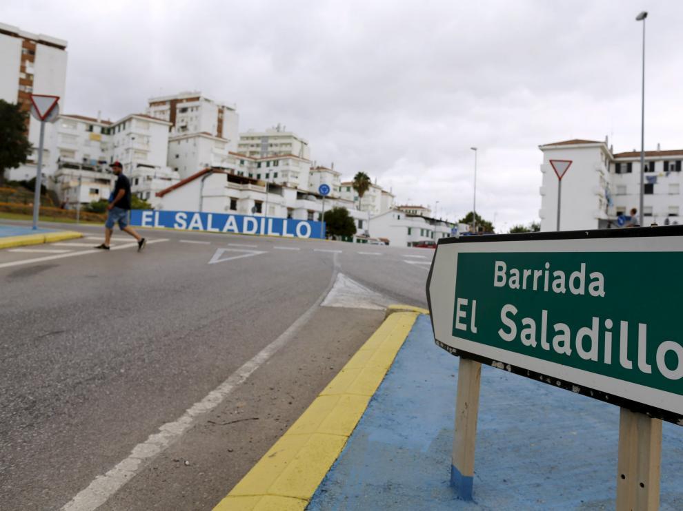 Entrada de la barriada de ?El Saladillo, en Algeciras