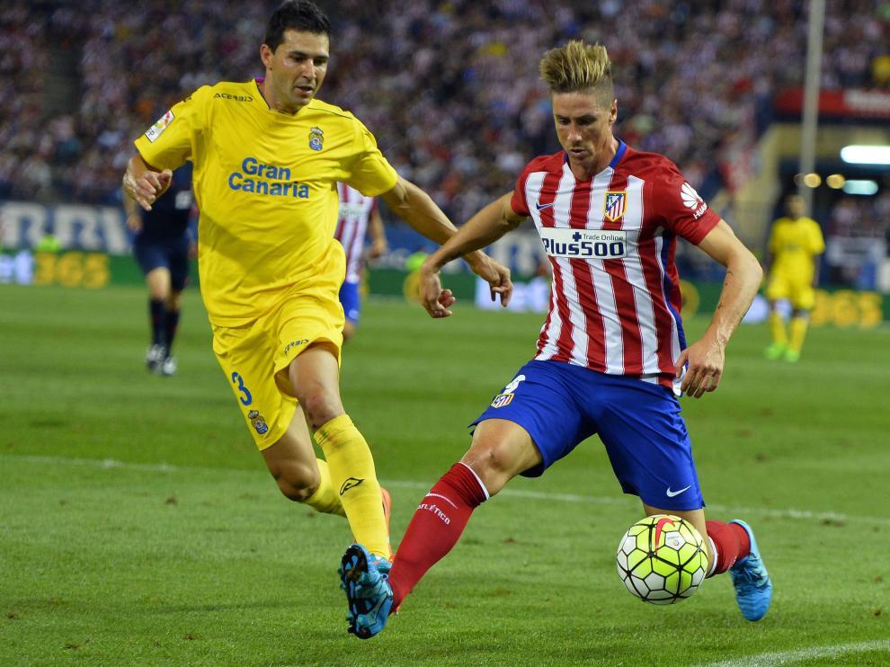 Torres juega con el Atlético de Madrid