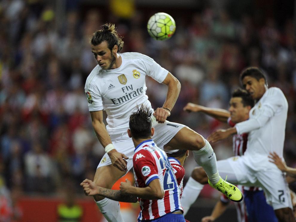Gareth Bale con el Real Madrid en Gijón