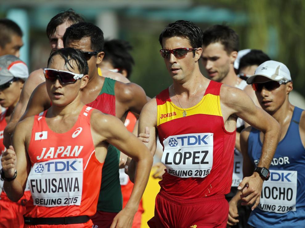 Miguel Ángel López, campeón del mundo de 20 km. marcha