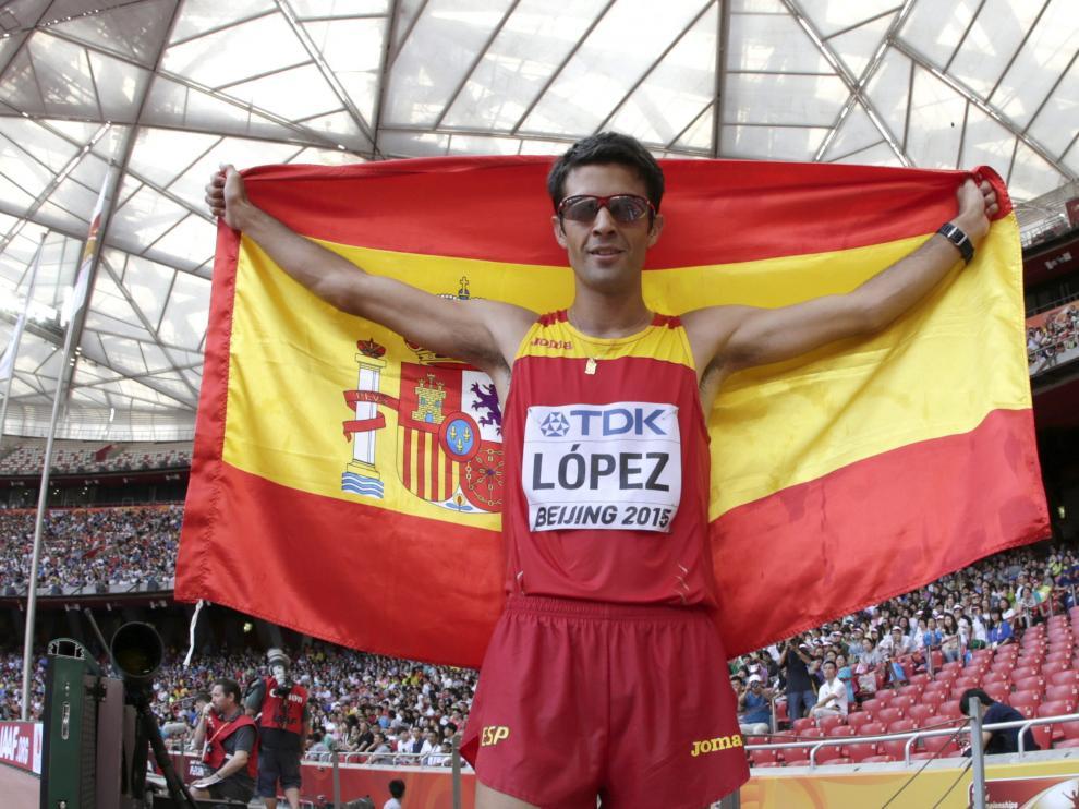 Miguel Ángel López, campeón mundial de atletismo en 20 kilómetros marcha.
