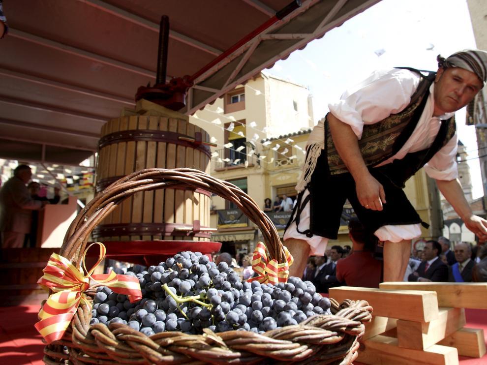 Una imagen de la fiesta de la vendimia que se celebra todos los años en Borja
