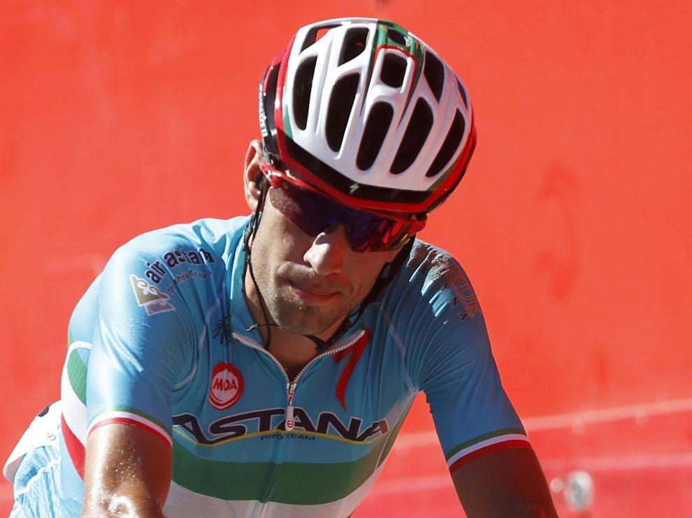 Nibali a su llegada a meta tras la segunda etapa de la Vuelta
