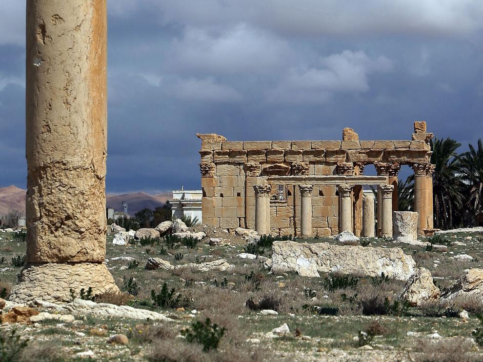Foto de archivo del templo de Baal en Palmira