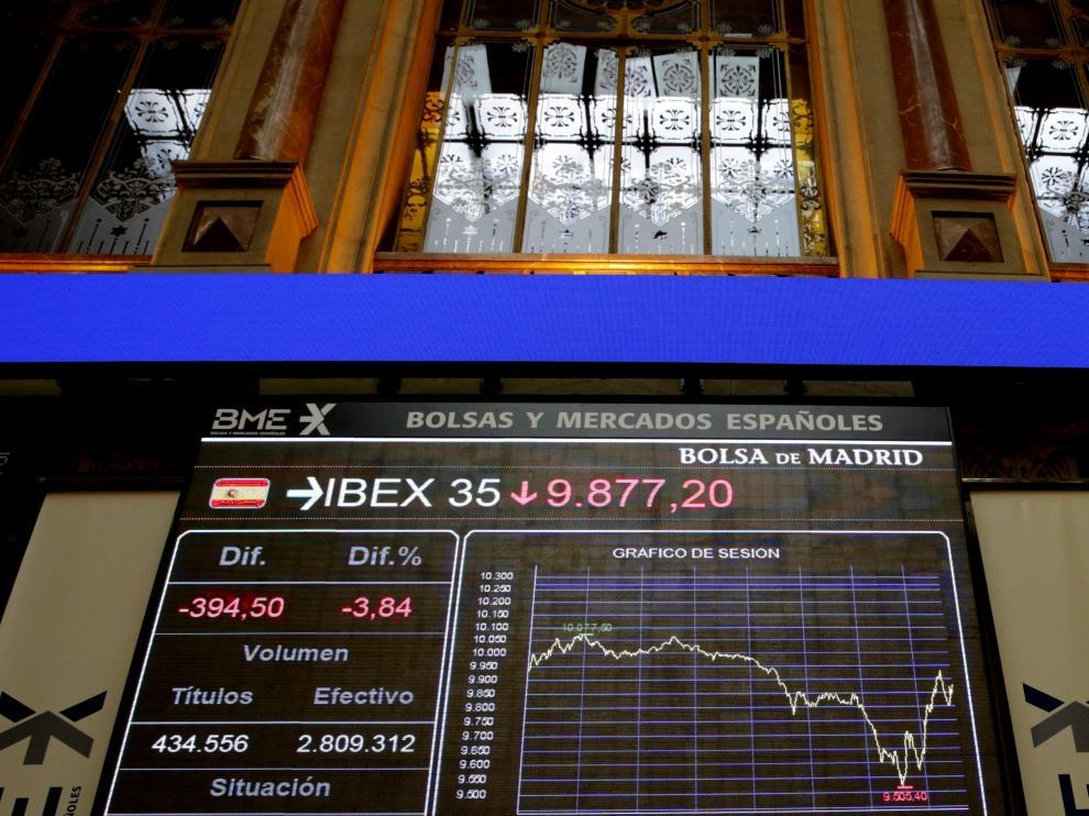 La bolsa española ha tenido su mayor caída desde agosto de 2012.