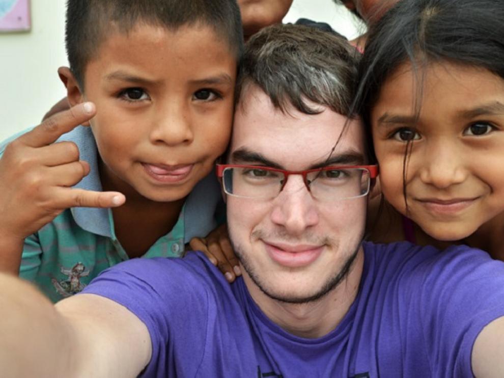 Sergio Otegui, en su viaje a Perú.
