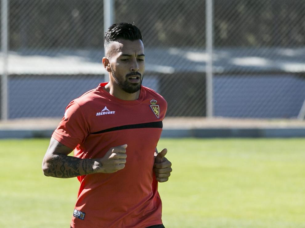Jorge Díaz, durante un entrenamiento en la Ciudad Deportiva