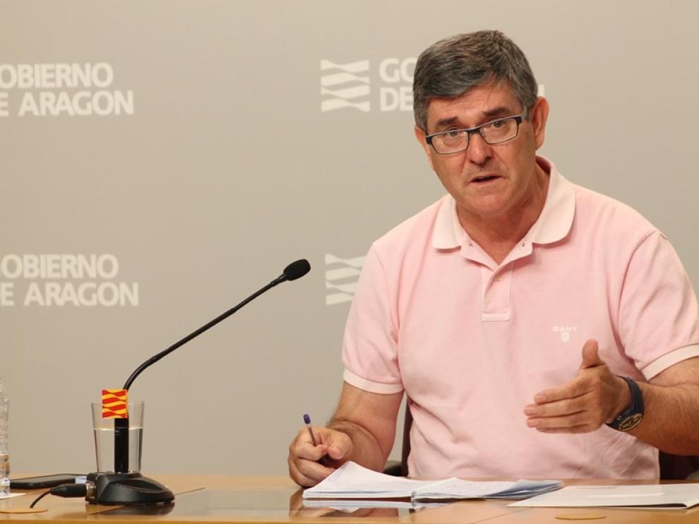 Vicente Guillén en la rueda de prensa.