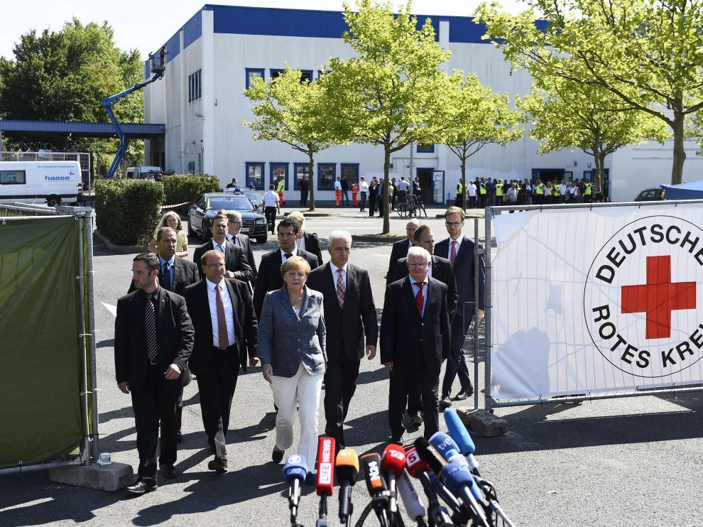 La canciller alemana, Angela Merkel, este miércoles